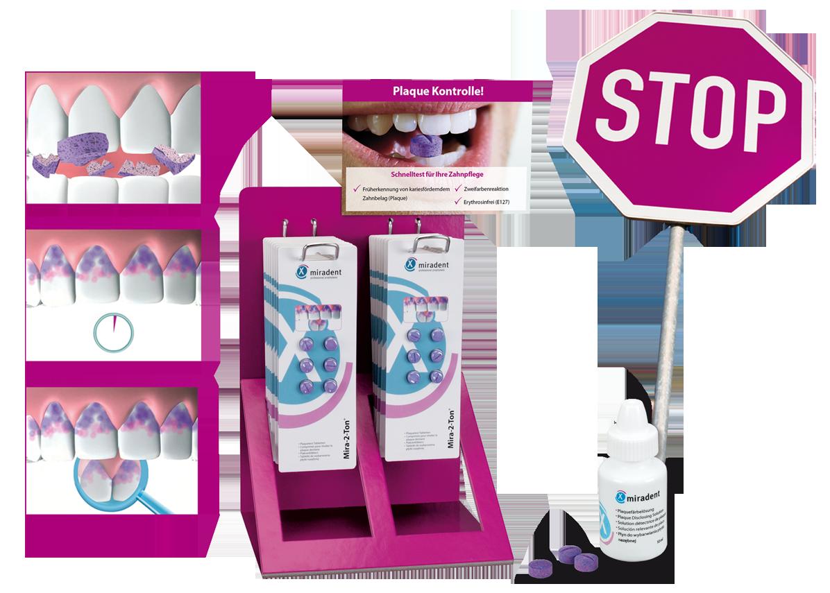 Mira-2-Ton Produkte zur Plaque Kontrolle